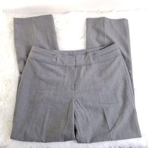 New Directions Petite Gray Straight Legged Slacks